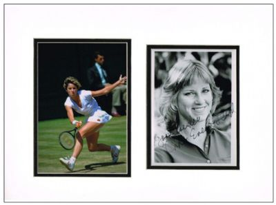 Chris Evert Autograph Signed Photo Display